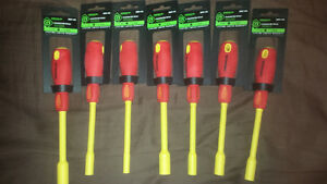 Insulated greenlee nut driver set