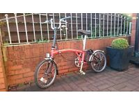BROMPTON FOLDING BIKE FOR SALE - VERY GOOD CONDITION