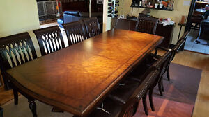 Large Wood Dining Set (9 chairs)