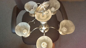 Silver Chandelier like new excellent condition.