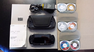 PSP Playstation portable system.