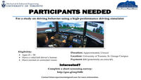 Driving simulator study - participants needed