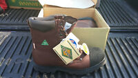 BRAND NEW - Leather Safety / Steel-Toe Boots - Size 13