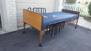 Electric Hospital Bed with Mattress + Transport