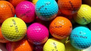 4 Golfbälle bunt, neu Turnierqualität, 432 Dimple  APM-TEC Z-03