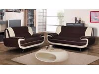 💖💥🔥SAME DAY BROWN AND CREAM🔥💥 BRAND NEW CAROL 3 SEATER 2 SEATER SOFA SET IN DIFFERENT COLOURS