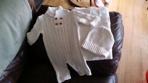 New Size 0-3months suit with hat and blanket