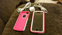 White IPHONE 5C with OTTERBOX Commuter and Defender Cases