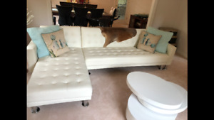 Lacaille Sleeper Sectional couch, by Brayden Studio - White