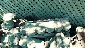 Decorative garden lining brick.