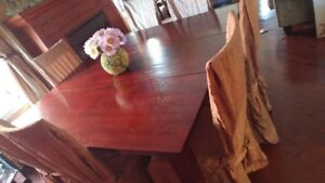 Dining room set table and chairs x7 $150 OBO