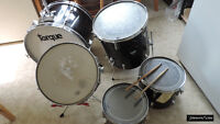 half a drum kit: Kick drum, 3 toms, and snare