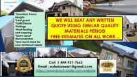 EAVES SOFFIT FASCIA WE WILL BEAT ANY WRITTEN QUOTE USING SIMILAR