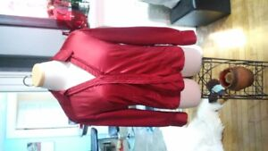 Ladies red silk top for sale $5