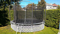 Trampoline Jumpking 14' avec filet