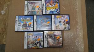 Lot de 8 jeux de DS et un de Pc en prime