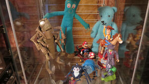Figurines Bugs Life, Toy Story, Mario Kart, Mr Bean, Gumby