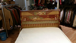 Vintage Sleigh Bed Frame Double Egyptian Motif hand painted Sarnia Sarnia Area image 6