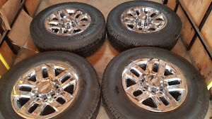CHEV 2500 - 3500 HD CHROME ALUMINUM RIMS & TIRES 1300.00