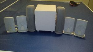 home theater speaker set (7 pieces)