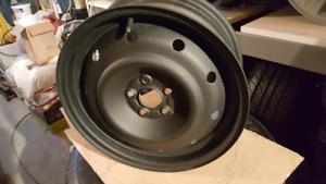 4 Jantes l'acier Subaru-Toyota noir 6.5J x 16 (5x100)
