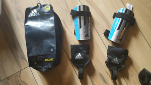 Adidas soccer shin guards and ankle protectors.