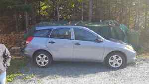 2003 Toyota Matrix Hatchback NEW MVI