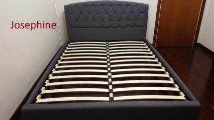 Queen Quality Fabric Brand New Bed Frame