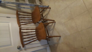 I have 2 wooden chairs to sell