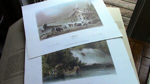 Early Canadian Scenes - W.H. Bartlett, Ready to Frame Kitchener / Waterloo Kitchener Area image 1