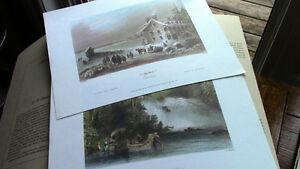 Early Canadian Scenes - W.H. Bartlett, Ready to Frame Kitchener / Waterloo Kitchener Area image 3