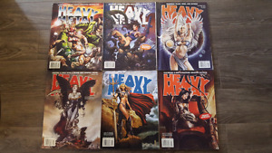 Lot of 6 Heavy Metal Back Issues, 2007-2008