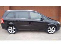 Vauxhall Zafira 1.8SRi. WARRANTY. FSH. ALLOYS. AC. EW. EM. BLACK.