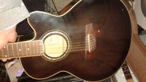 Ibanez AE2012 electro acoustic guitar 12 string