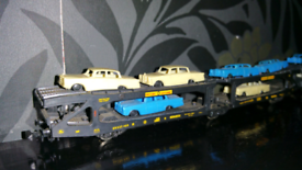 N gauge 4 lima car transporters plus a bag of modern cars