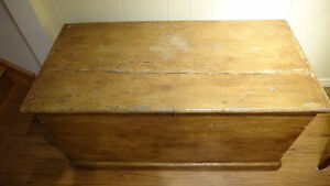 Antique Pine Blanket Box West Island Greater Montréal image 2