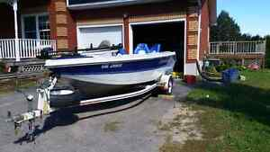 1997 Prince craft with 115 evenrude with trailer  Peterborough Peterborough Area image 2