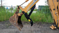 Hydraulic & Manual Thumb for Case 580/590 Backhoe Loader