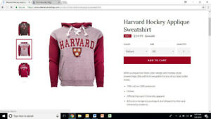 4 BRAND NEW official Harvard sweatshirts-- $30 with tags