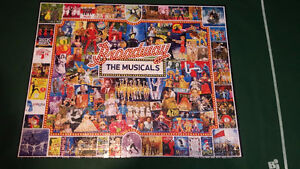 Beautiful 1000 pc. Broadway collage puzzle