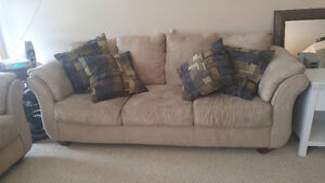 Ivory microsuede couch