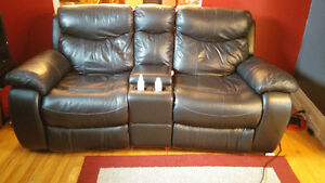 leather reclining couch. REDUCED $500