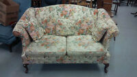 WING BACK STYLE LOVE SEAT IN VERY GOOD SHAPE