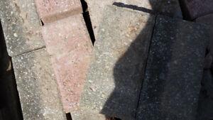 grey and brick colour interlock 38 SQ. TF