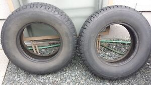 Studded 14 in Snow Tires (2)