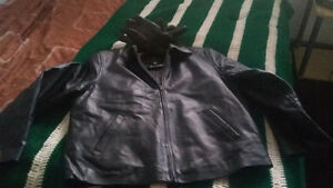 lined leather jacket