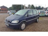 2003 Vauxhall Zafira 1.6i 16v Club 12 MOT 70000 Miles Bargain