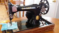 Antique Singer Portable Sewing Machine Model-128 Mfg.1948