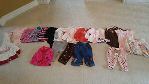 3-6 months girl's long sleeves and pants