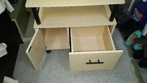 PRINTER TABLE WITH FILING CABINET AND STORAGE